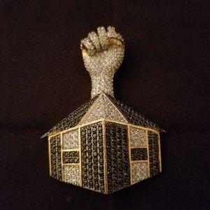 Harmony Hawse pendant CZ sterling silver.